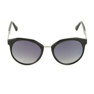 New Balmain 53MM Cat Eye Sunglasses  In Black